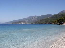 Spiaggia vicino all'agriturismo, Grecia, alloggi verdi