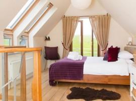 Camera matrimoniale, Carswell Cottages, alloggi verdi