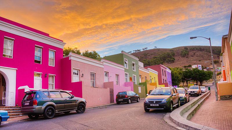 Bo-Kaap, Città del Capo, vacanze a colori, foto di Wikimedia Commons