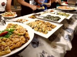 Abbondante buffet all'hotel Daniel