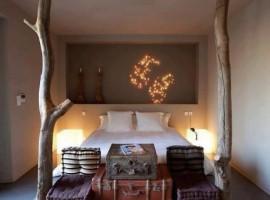 Una delle camere dell'eco resort