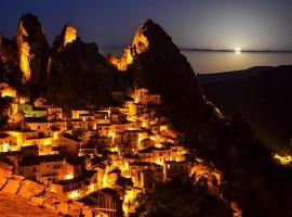 Dolomiti Lucane, Castelmezzano, vista notturna