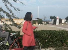 Marzia, mamma in bicicletta