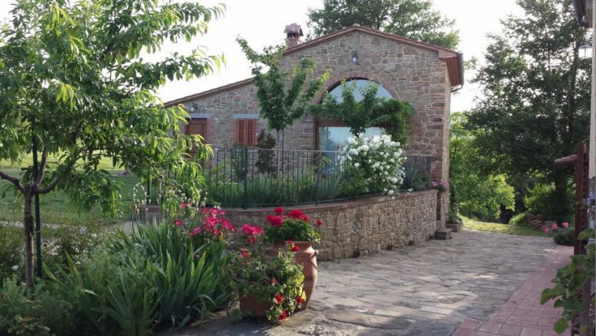 Un agriturismo biologico tra Siena e Arezzo