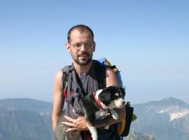 Graziano Viviani sulla Cresta Tambura, Alpi Apuane