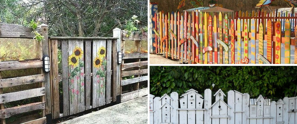pallets, DIY fences, green