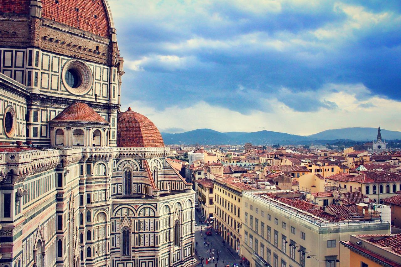 Firenze, il centro della città visto dall'alto dal Duomo