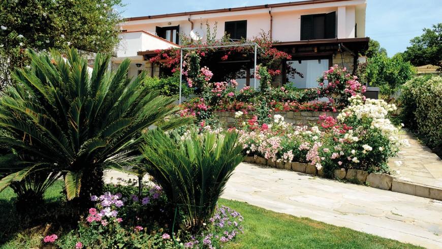 B&B eco-sostenibile in Sardegna, con un bellissimo giardino di rose e ulivi secolari