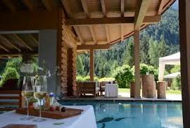 Area benessere ad alta quota in Val di Fassa