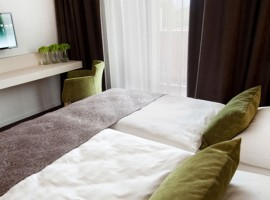 Camera da letto di hotel eco-friendly a Bled