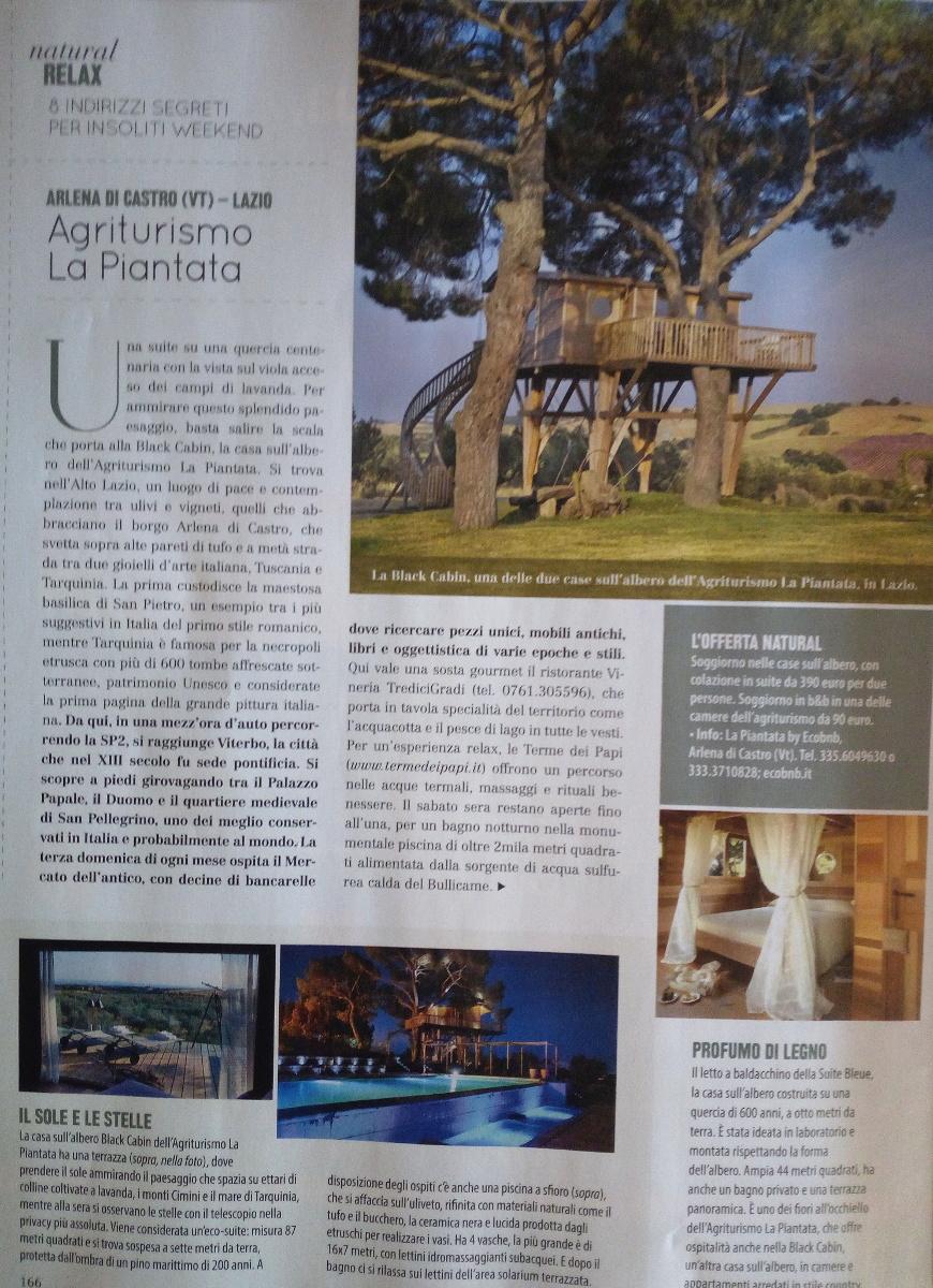 La pagina della rivista italiana NATURAL style che parla anche di Ecobnb