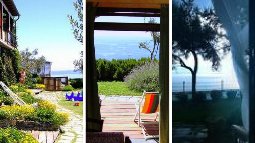 Un agriturismo biologico affacciato sul mare della Liguria