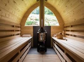 auffgus al relais Aunus, una casa di legno nel bosco della Lessina