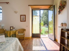 la camera del B&B eco-friendlyy tra le colline del Chianti