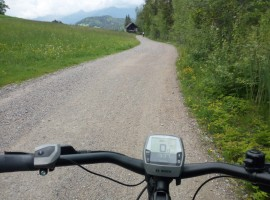 In MTB attorno al lago di Weissensee