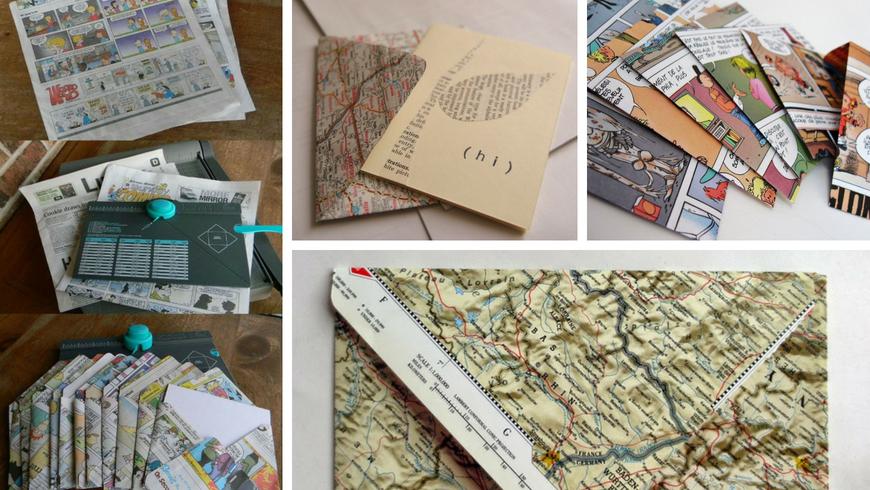 Via libera al riciclo creativo: con vecchi giornali puoi creare buste originalissime