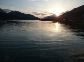 Tramonto sul Lago di Weissensee
