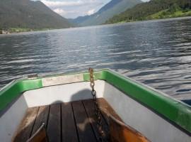 in barca sul lago di Weissensee