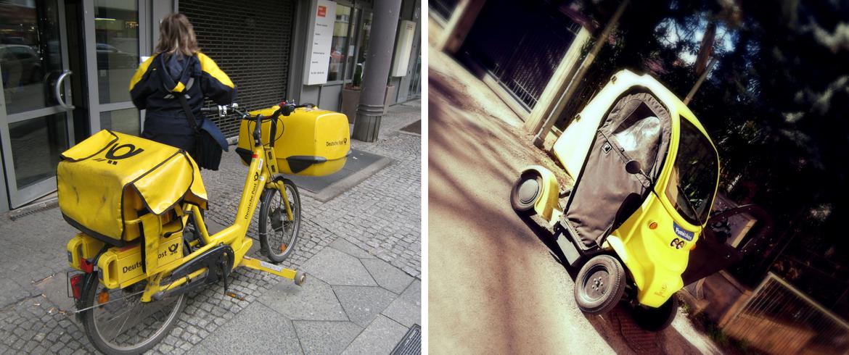 Corrieri ecologici, con mezzi elettrici, e-bikes