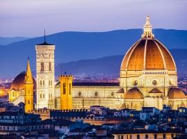 Firenze, duomo del Brunelleschi al tramonto