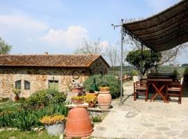 il giardino del B&B eco-friendlyy tra le colline del Chianti