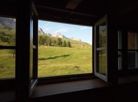 Vista dall'Hotel Costabella a Moena