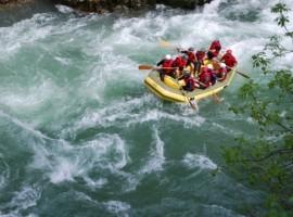 Rafting sul fiume Lim, Serbia