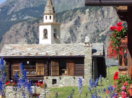 Chamois, Valtournance, una delle località di montagna per una vacanza senza auto