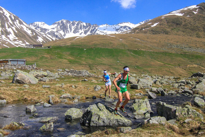 Running in Valdidentro, Val Viola, durante la Skyrace (ogni anno a giugno)