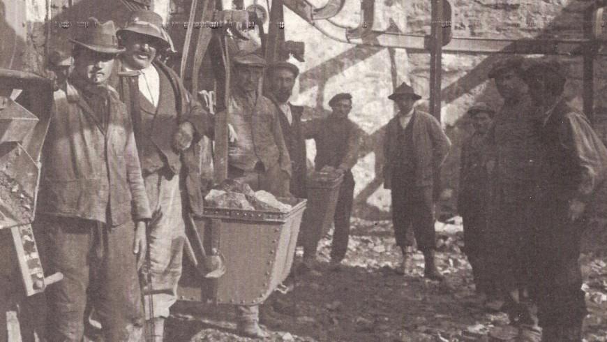 Foto dei minatori della miniera di Cogne - foto della Cooperativa Mines de Cogne via Facebook