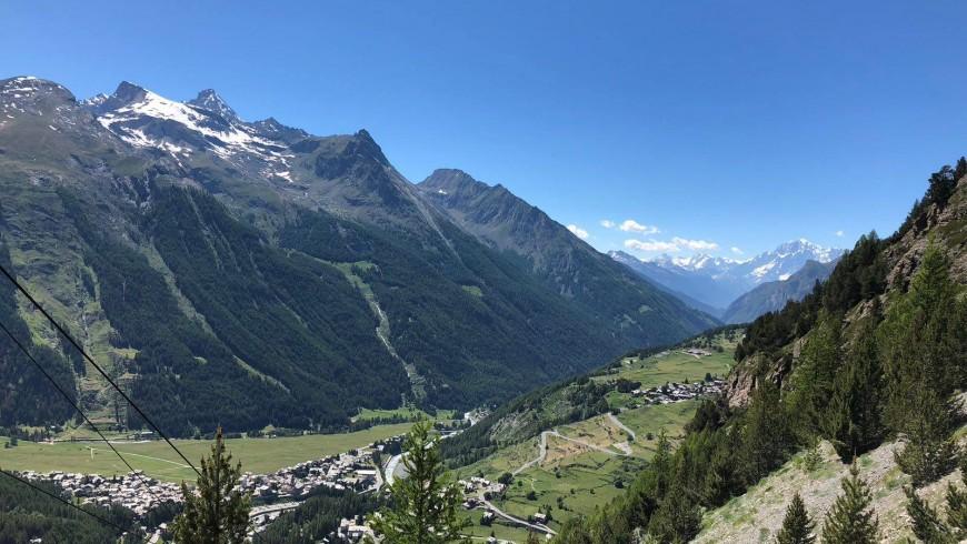 Panorama spettacolare dalla miniera di Cogne