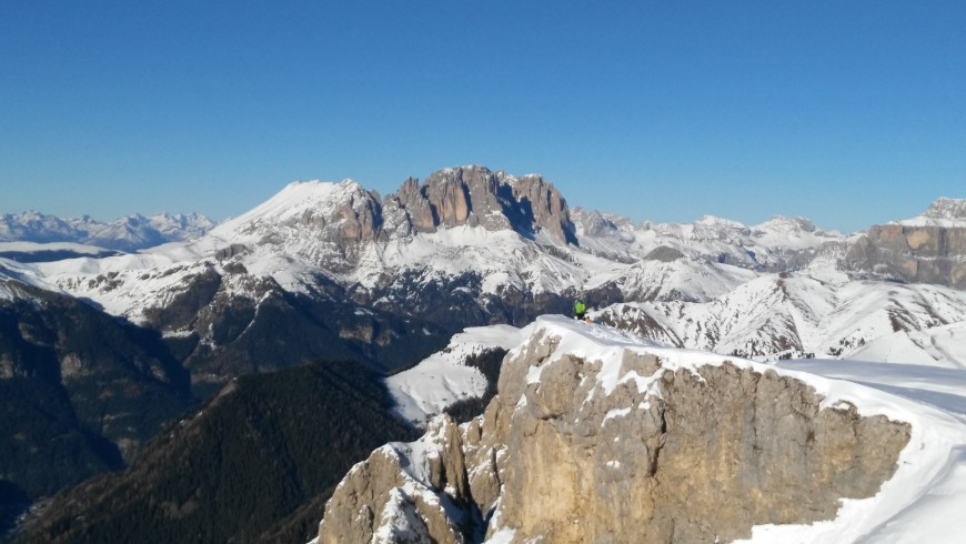 The Dolomiti in Fassa Valley. Photo by Wikimedia Commons