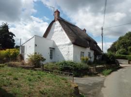 Casa tipica con il tetto di paglia