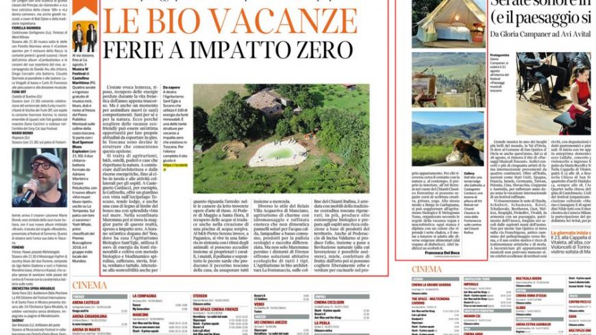 Corriere Fiorentino Bio Vacanze