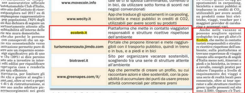 Ecobnb Italia Oggi Stampa