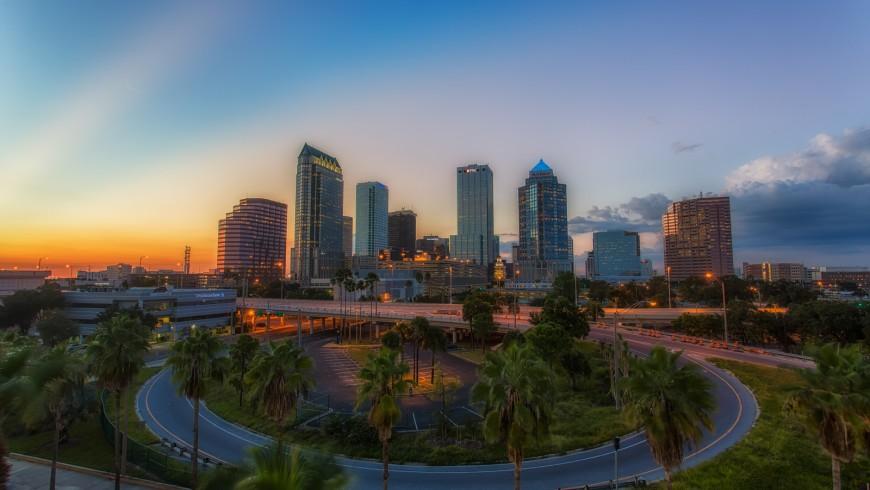 Vista su Tampa, Florida, una delle città più vedi al mondo