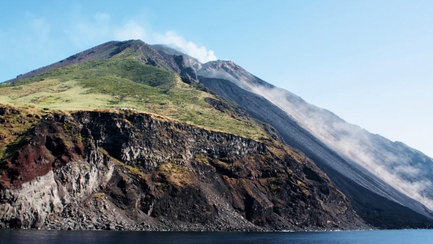 Lo Stromboli, sull'omonima isola delle Eolie