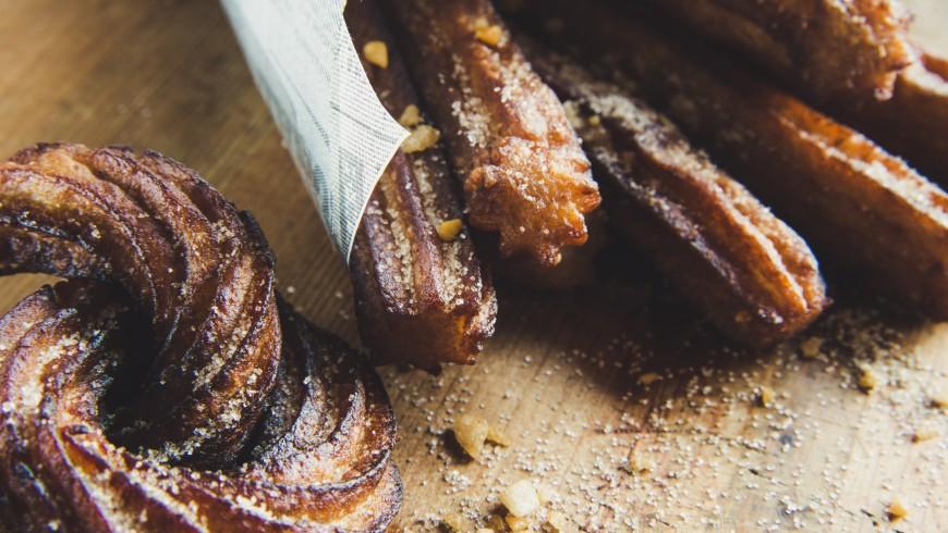 Churros, specialità spagnole, cibo spagnolo