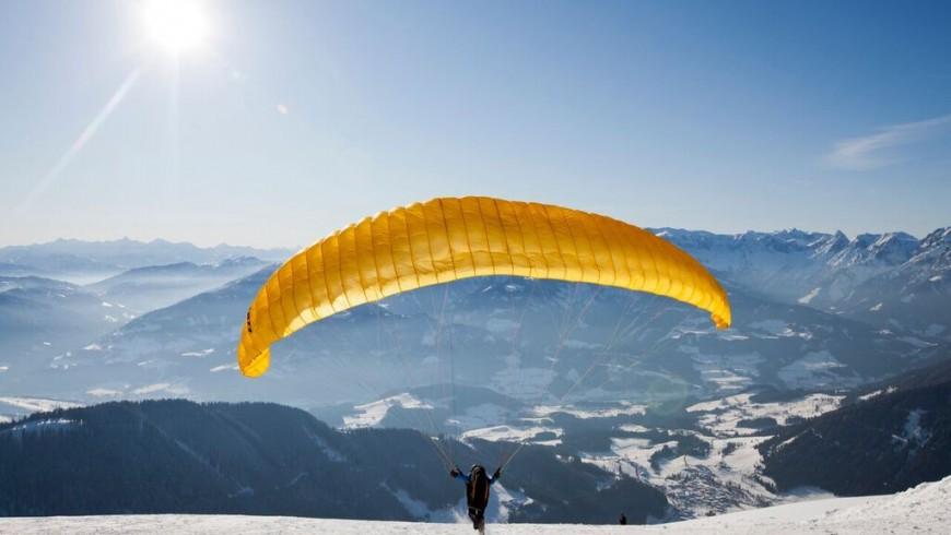 Werfenweng dall'alto: volo in parapendio