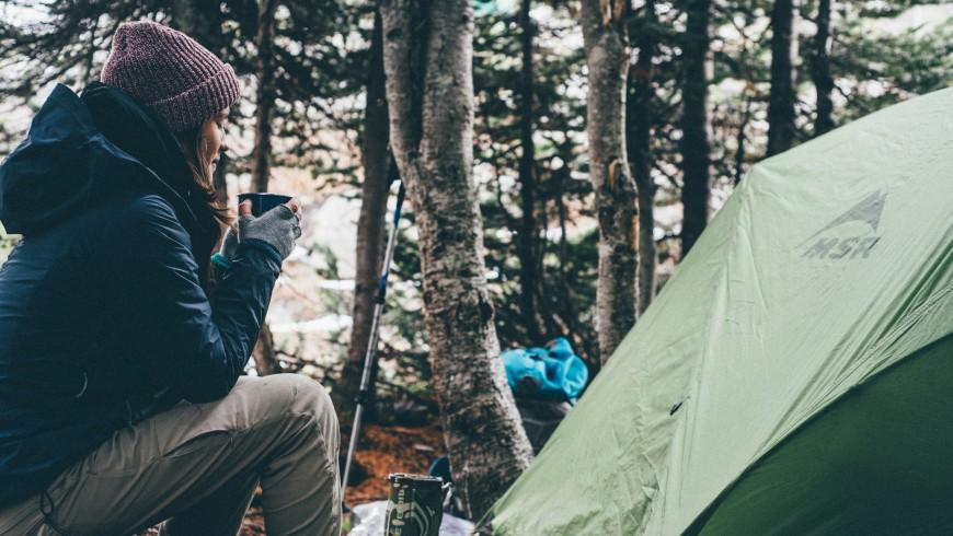 In tenda d'inverno