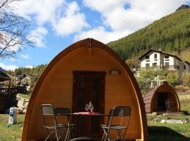 Glamping in legno al camping eco-sostenibile Casa Bianca di Ceresole Reale