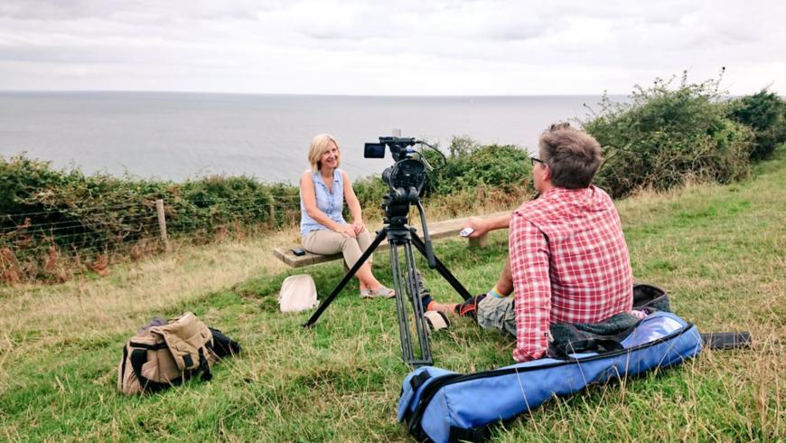 Una fase del documentario: intervista a Tamara Galloway