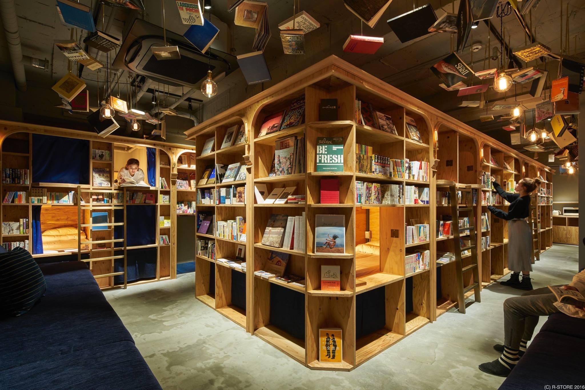 Un ostello tra i libri a Tokyo