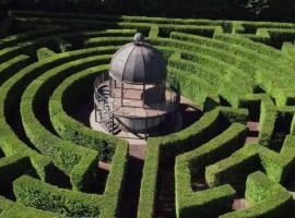 Parco Sigurtà a Valeggio sul Mincio, labirinto visto dall'alto