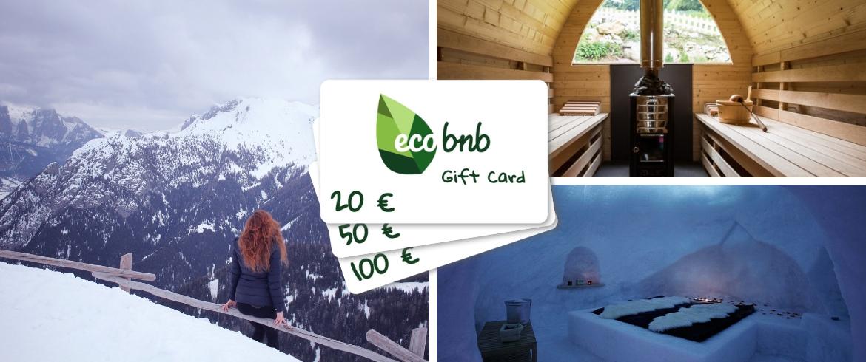 Regalare un'Esperienza Green con la Gift Card di Ecobnb