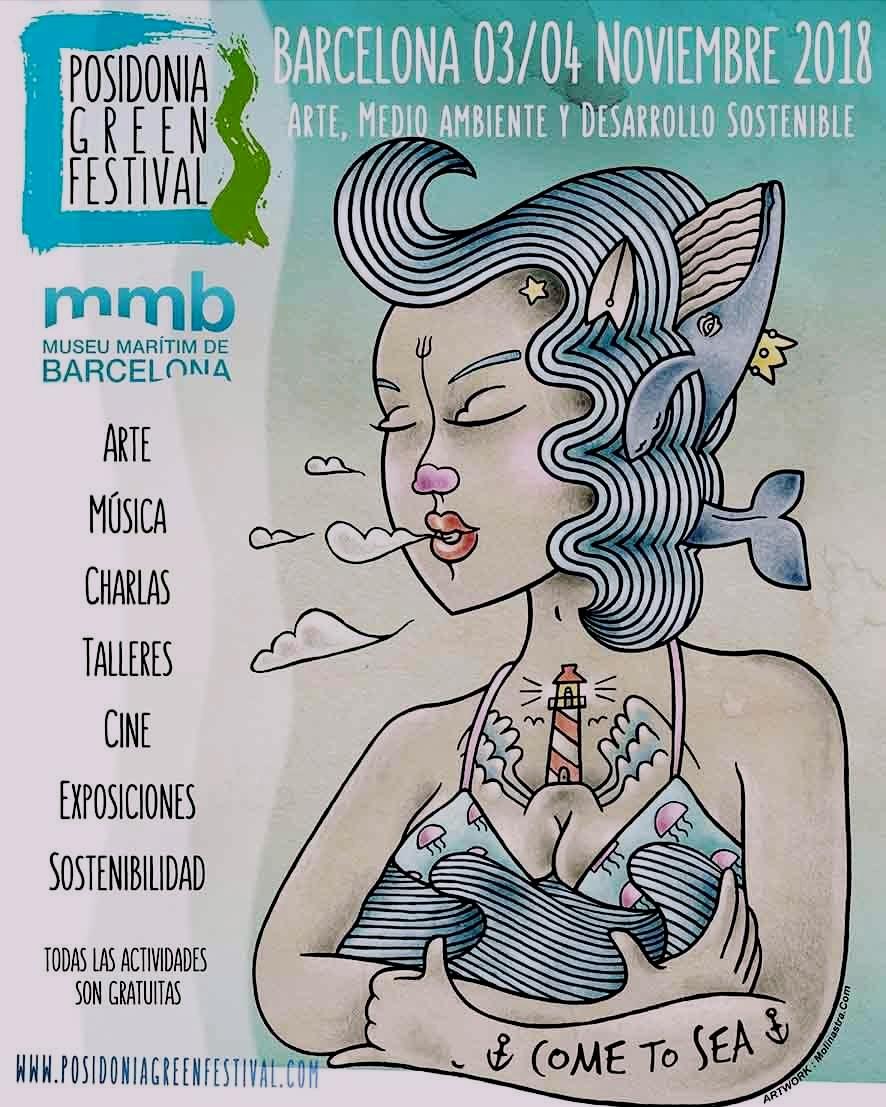 Locandina del Posidonia Green Festival 2018 a Barcellona