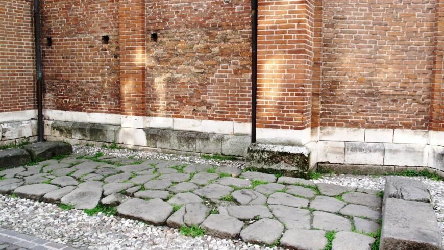 Tratto di strada romana nell'odierno Corso Fogazzaro