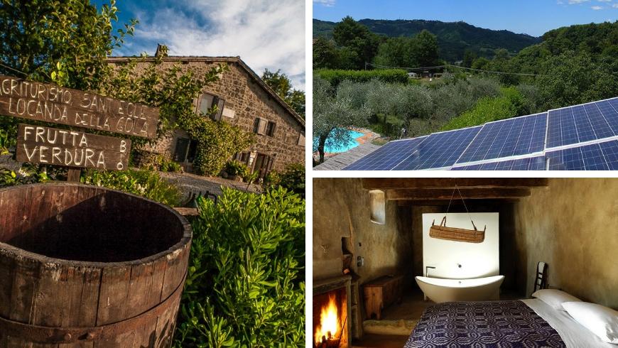 Agriturismo biologico Sant'Egle, Borgo4Case, Sextantio, alcune strutture ricettive sostenibili in Italia
