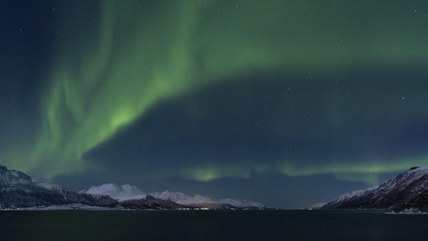 Lyngenfjord, territorio artico nella Norvegia
