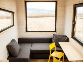 Tiny House Fritz, soggiorno con vista sul paesaggio